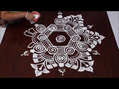 Latest rangoli designs simple rangoli free hand kolam easy rangoli sankranthi muggulu - YouTube