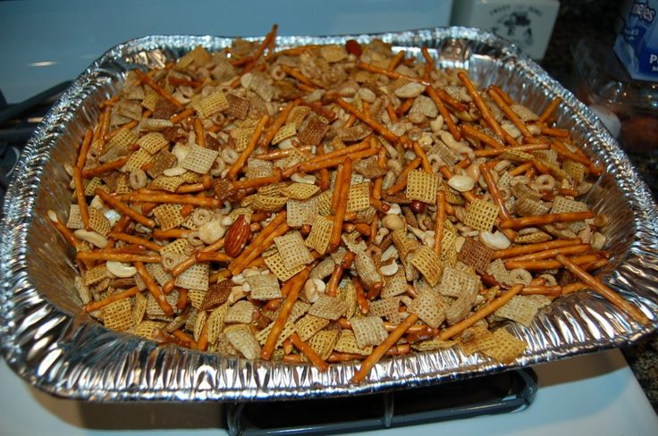 My Moms recipe for Chex Mix is AMAZING!  I am sharing her secret!