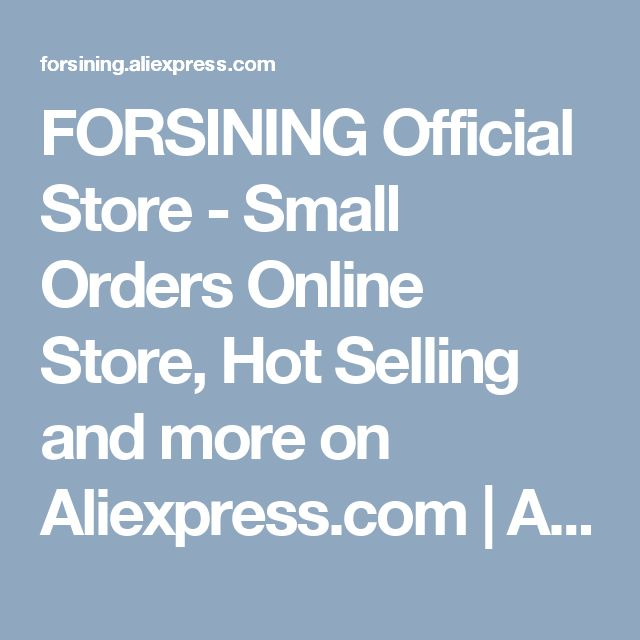 FORSINING Official Store - Small Orders Online Store, Hot Selling  and more on Aliexpress.com | Alibaba Group
