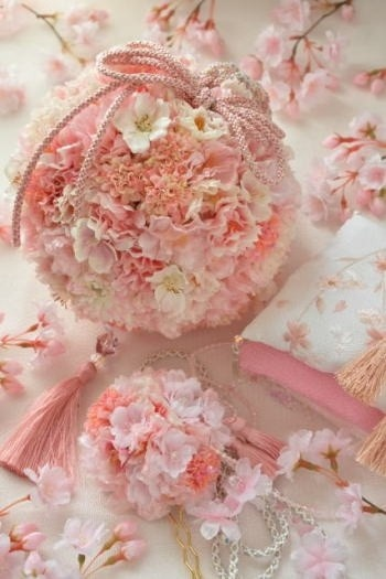 Wedding kimono bouquet / http://biseikatsu.jp/