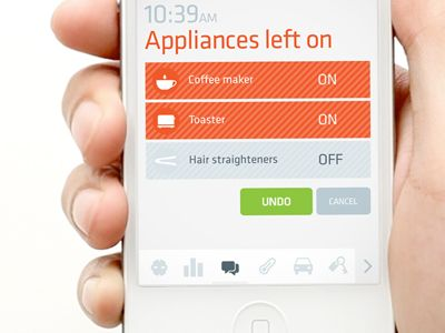 iPhone app concept by Colin Pye