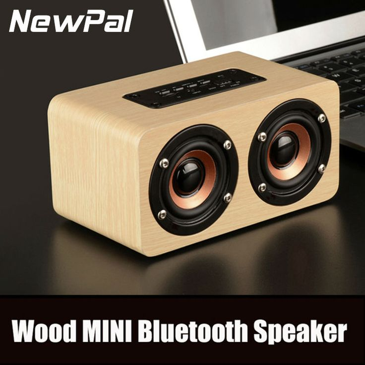 NewPal Wireless Wood Bluetooth Speaker Portable Speakers Bluetooth 3.0 Subwoofer With TF AUX Loudspeaker For Phone Xiaomi