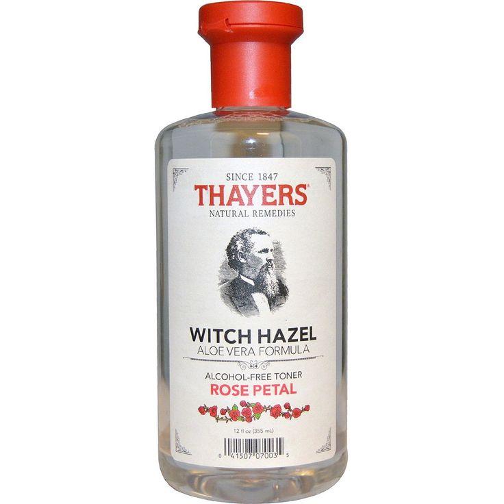 Amazon.com : Thayers Witch Hazel Alcohol-Free Rose w/Aloe Vera 12 oz : Facial Toners : Beauty