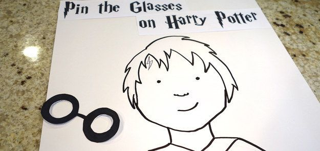 "Play ""Pin the glasses on Harry."" 