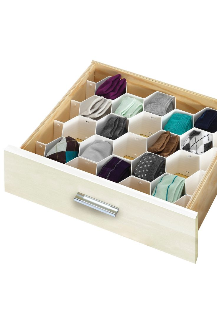 Honeycomb drawer organizer- I use this for my undies too ! I love it, never been more organized!