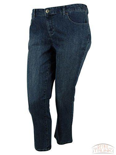 Style & Co Women's Animal Print Cuff Ex-Boyfriend Jeans