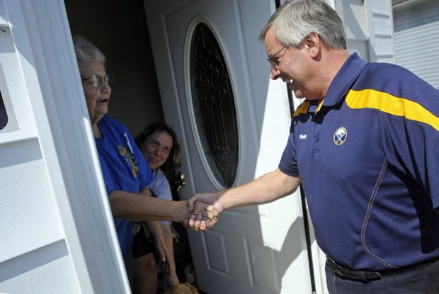 Buffalo Sabres owner Terry Pegula delivers Season Tickets to some fans