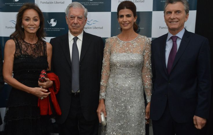 Isabel Preysler, Mario Vargas Llosa, Juliana Awada y Francisco Macri, los invitados de honor de la cena de la Fundación Libertad