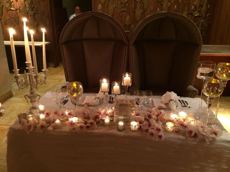 His U0026 Hers Table #BlackOrchidFlorists