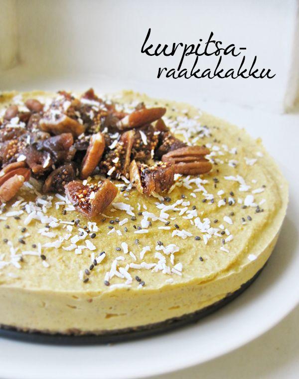 Pumpkin (or butternut squash) raw cake