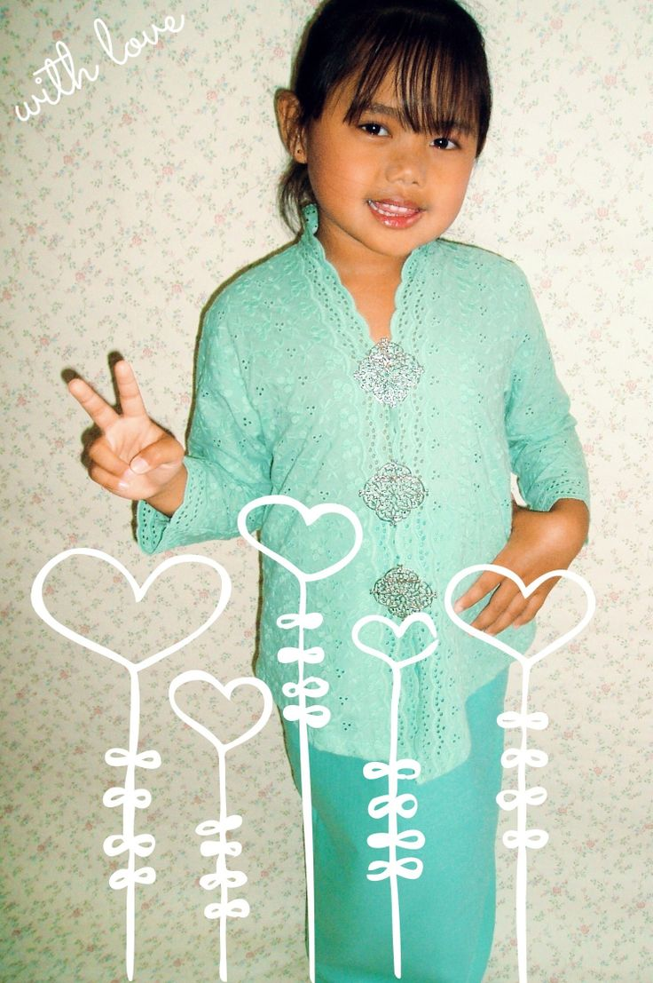 MINI KEBAYA Baju raya 2014 for kids Traditional wear