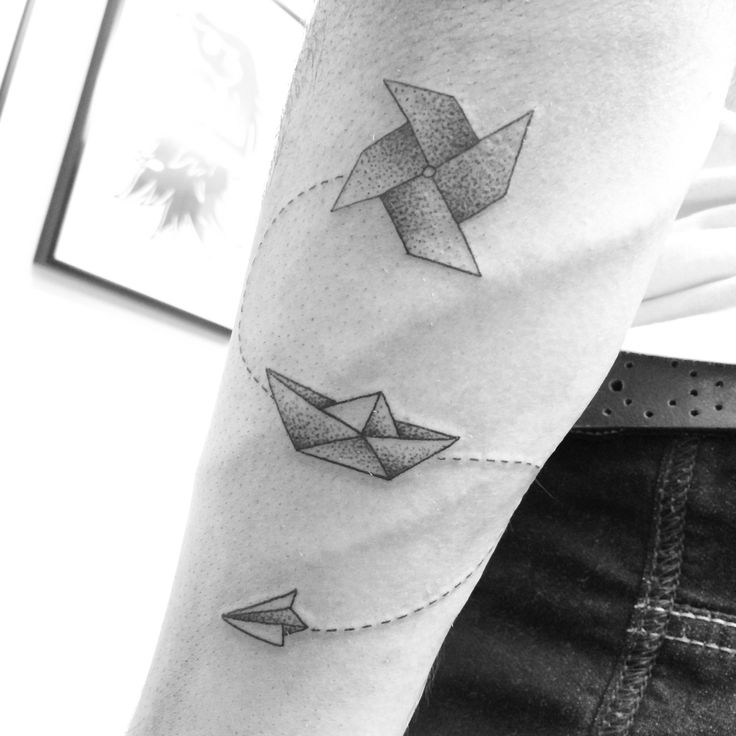 Origami Tattoos http://tattoos-ideas.net/origami-tattoos/