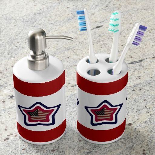 Best Bathroom Bath Sets Images On Pinterest Bathrooms Decor - Red toothbrush holder bathroom accessories for bathroom decor ideas