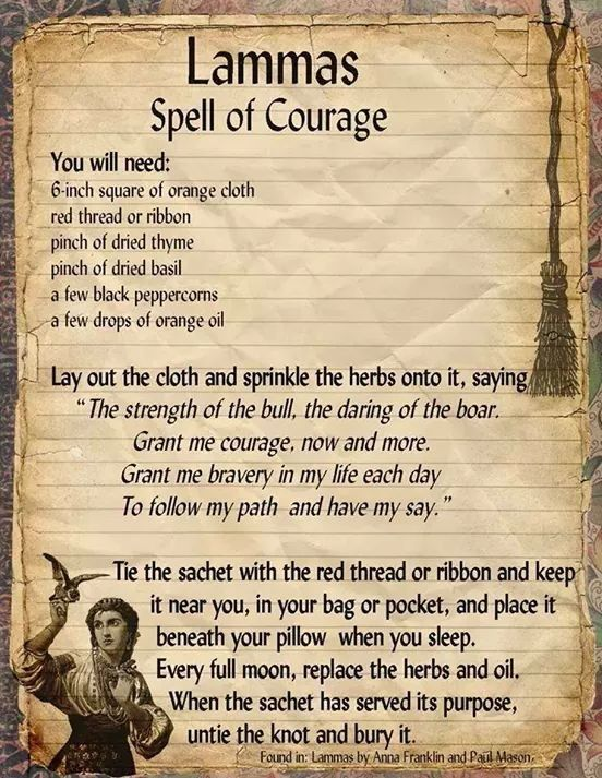 Lammas – Spell of Courage – Coven Life®