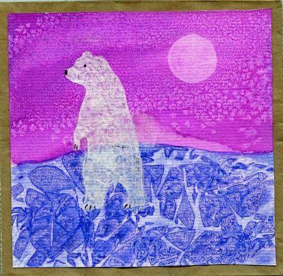 Watercolor, salt, plastic (texture)
