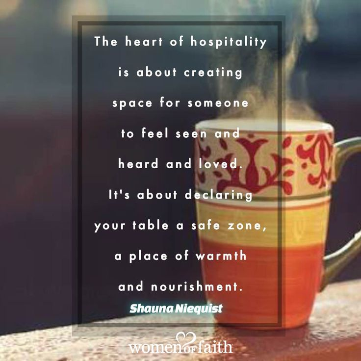 Shauna Niequist quote about hospitality                                                                                                                                                                                 More