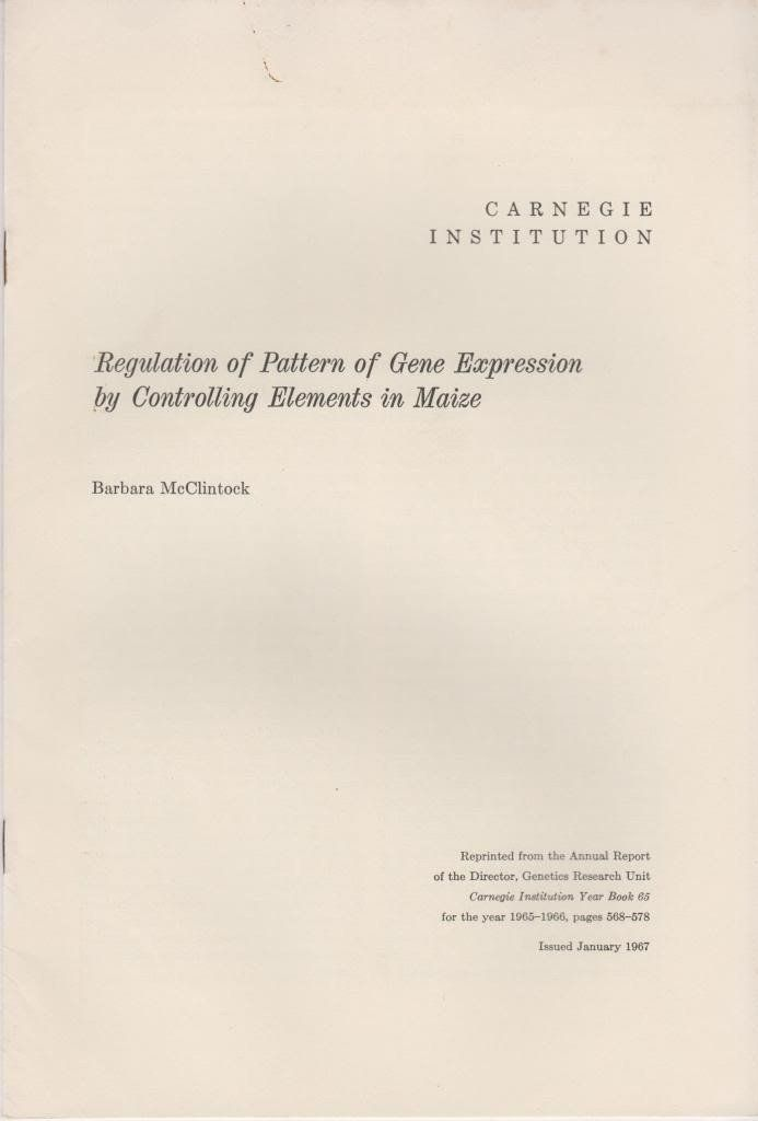 Regulation of Pattern of Gene Expression by Controlling Elements in Maize