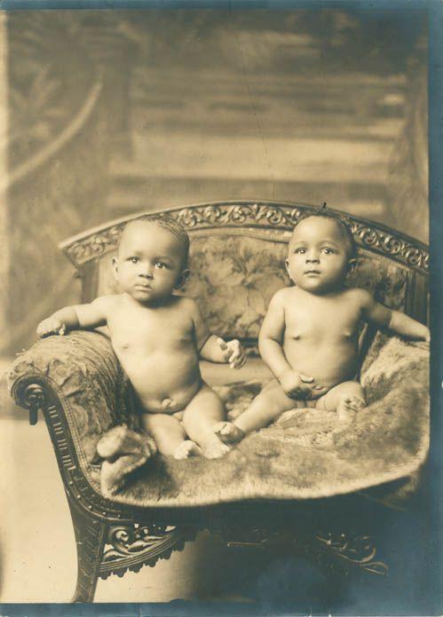 Twins? A found family portrait via Vintage Black Photos tumble -- go check it out