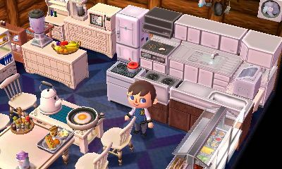 Room inspiration family kitchen animal crossing for Modern house acnl