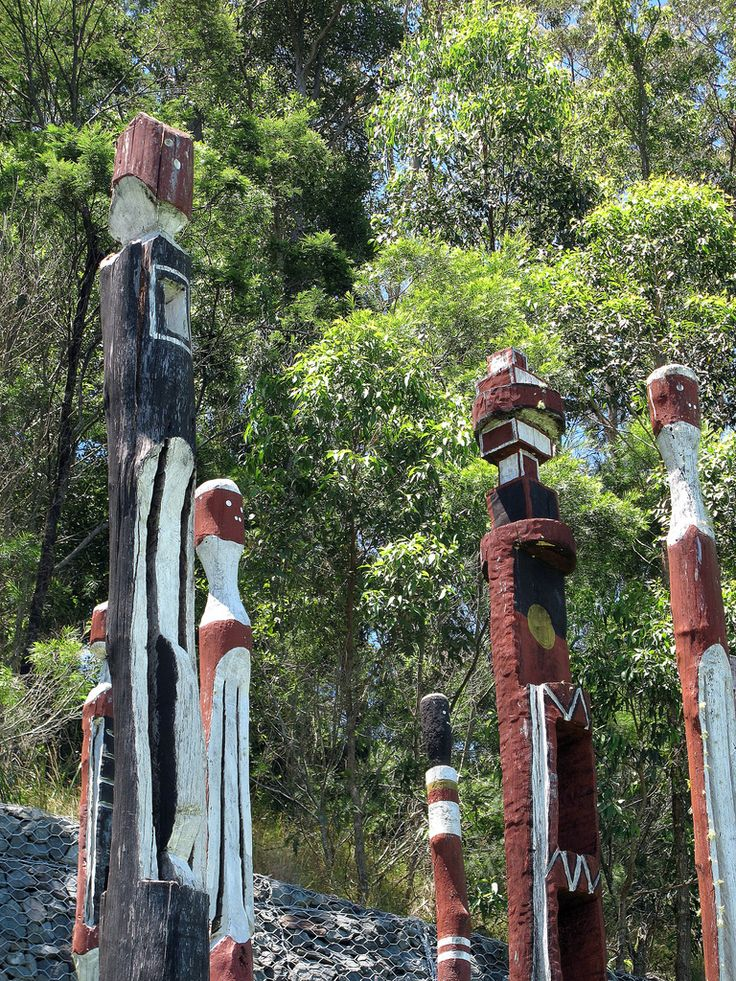 Aboriginal Totems from the Bunya People, Port Macquarie New South Wales, Australia