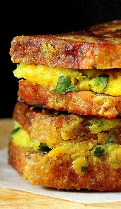 Vegan Samosa French Toasts (Gluten, sairy, egg, corn, soy, nut free) . . .