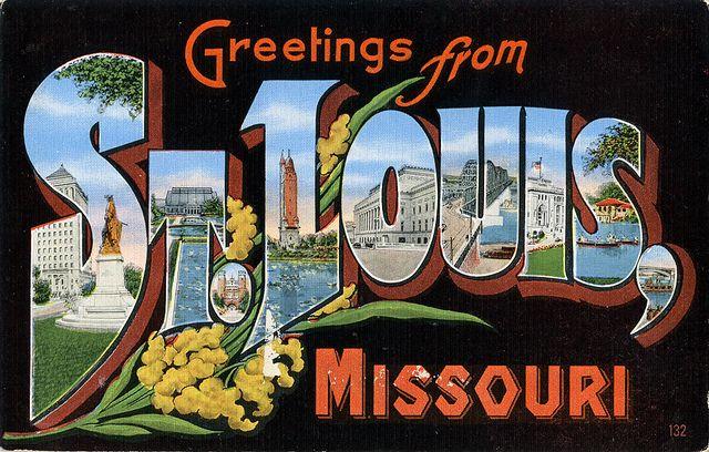 Greetings from St. Louis, Missouri – Large Letter PostcardLeah Elsmore