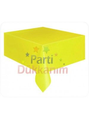 Sarı Masa Örtüsü Plastik Lüks 137x183