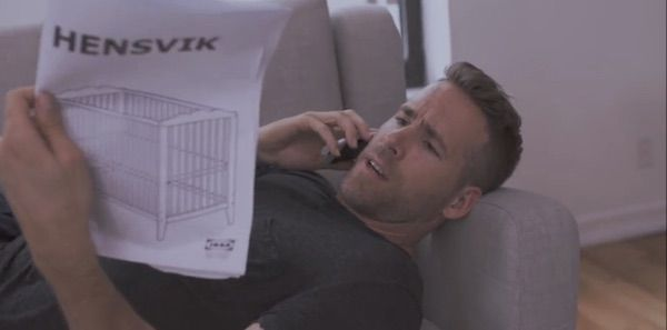 Video Of Ryan Reynolds Struggling To Assemble An IKEA Crib Is Funnily Relatable - DesignTAXI.com