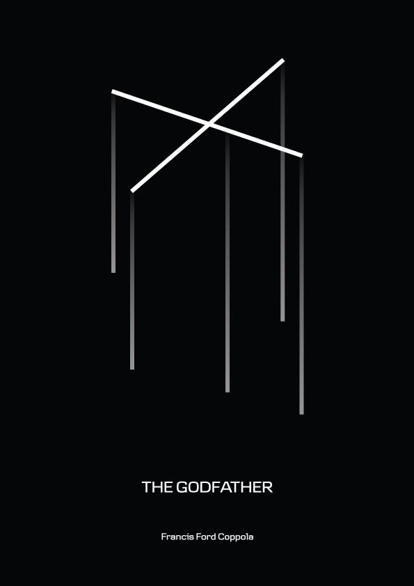 The Godfather (1972) ~ Minimal Movie Poster by rastereYes #amusementphile