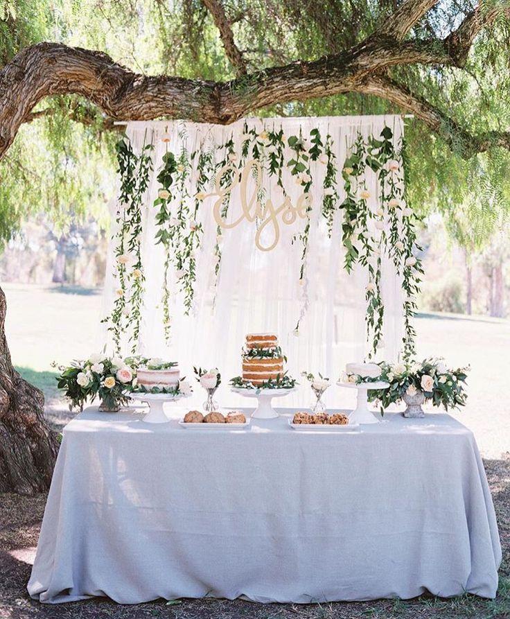 Wedding Dessert Table Backdrop: Best 20+ Outdoor Birthday Parties Ideas On Pinterest