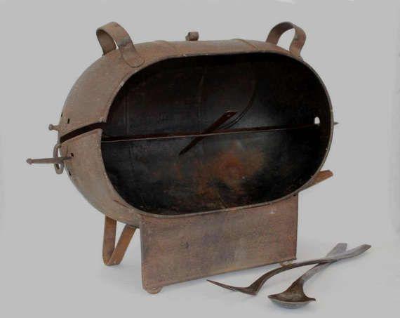 Ancienne rotissoire pour feu de cheminée par FrenchTouchBoutique