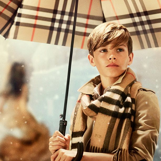 """Romeo Beckham - star of the Burberry festive film, """"From London with Love"""""""