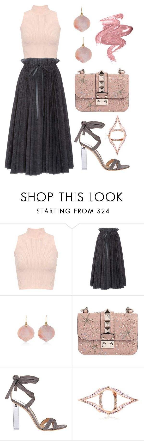 """""""holiday Ballerina"""" by dominosfalldown ❤ liked on Polyvore featuring WearAll, Dice Kayek, Annette Ferdinandsen, Valentino, Gianvito Rossi and Katie Rowland"""