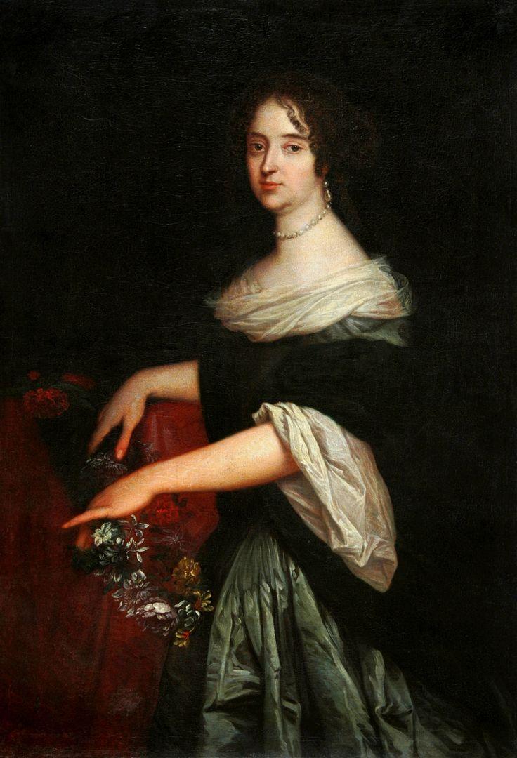 Portrait of Maria Anna Wielopolska née de la Grange d'Arquien by Claude Callot, 1675-1678 (PD-art/old), Muzeum Narodowe w Kielcach (MNKi)