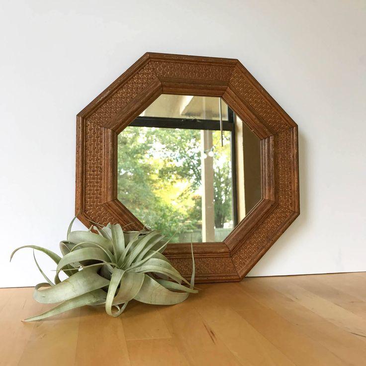 Vintage Mirror, Oak Mirror, Wood Mirror, Octagon Mirror, Oak Wood Mirror, Boho Decor, Bohemian Mirror, 70s mirror, Boho Mirror, by ThievesandOpal on Etsy https://www.etsy.com/listing/569844311/vintage-mirror-oak-mirror-wood-mirror
