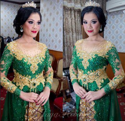 wedding kebaya green