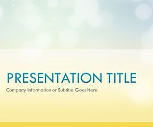 Free Glow Day PowerPoint template is a background slide design that you can use to make presentations in PowerPoint with original content and background style #powerpoint #templates