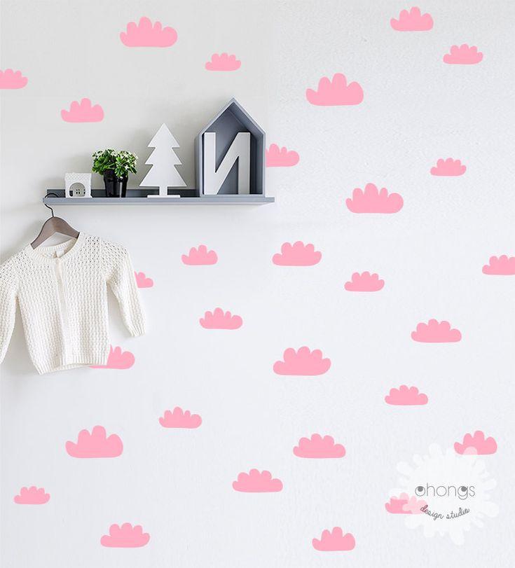 Duvar Stickerı - Pembe Bulutlar #duvarsticker #dekorasyon #dekoratif #çocukodası #wallsticker #sticker #kidsroom #roomdecoration #walldecoration #duvardekorasyonu