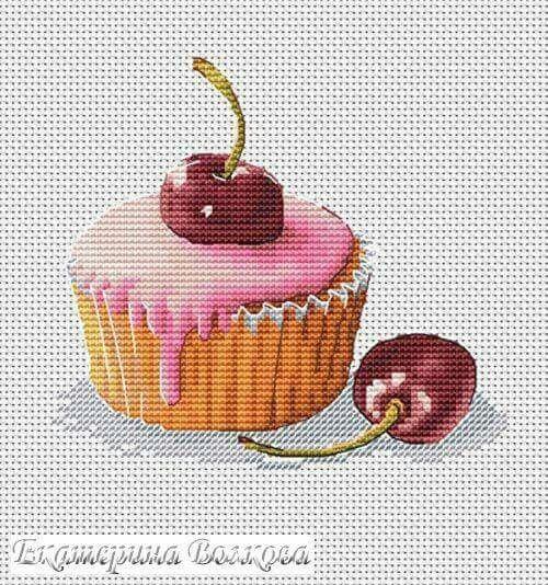Ponto cruz cupcake