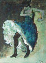 "Henry Meyland, Swiss, 1895 - 1980, ""Danseuse de flamenco"""