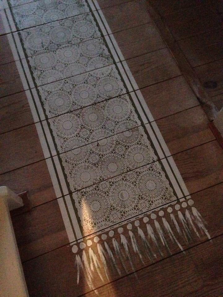 Painted 'rug'