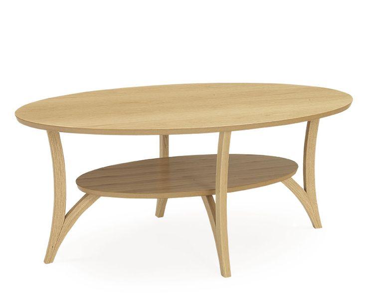 SPINELL Sofabord 130 x 75 cm H: 54 cm. Hvit