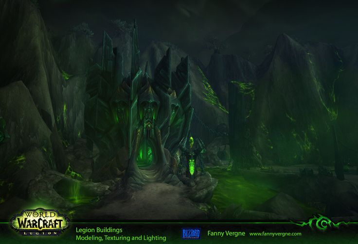 """I was responsible to create the Tomb of Sargeras and the legion buildings (modeling, texturing and lighting) for World of Warcraft """"Legion""""."""