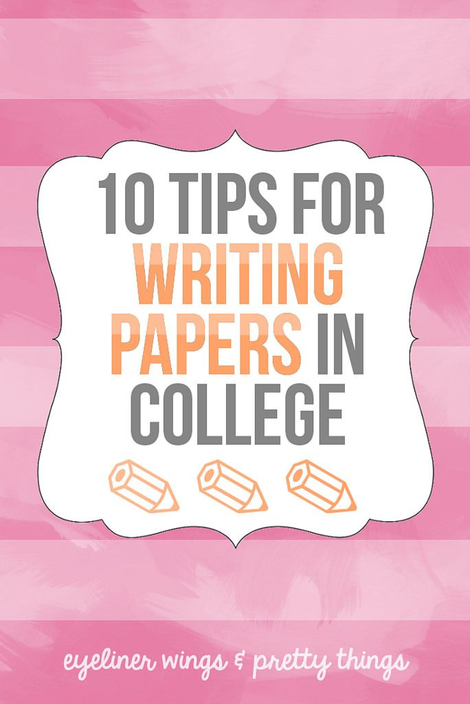 Help with writing a papers for college tips