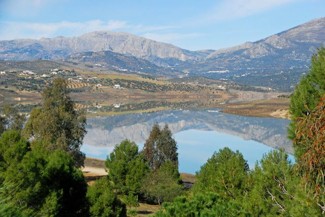 Lake Vinuela, a water deposit.