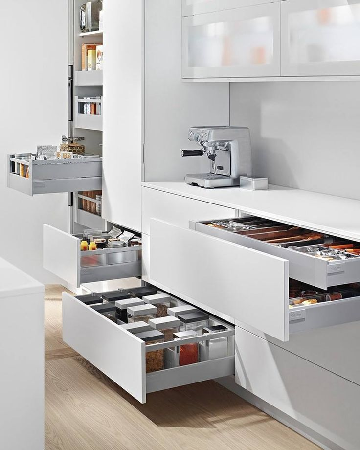 ANTARO 224 mm (base 128,5 mm) D series The total range of Tandembox drawers comes with a full extension which allows full access to the interior of the drawer. The functional smooth sliding, even in extreme conditions, makes the use pleasant.