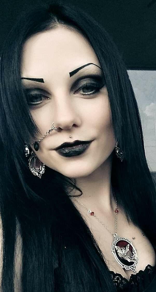 Pin on black metal girl