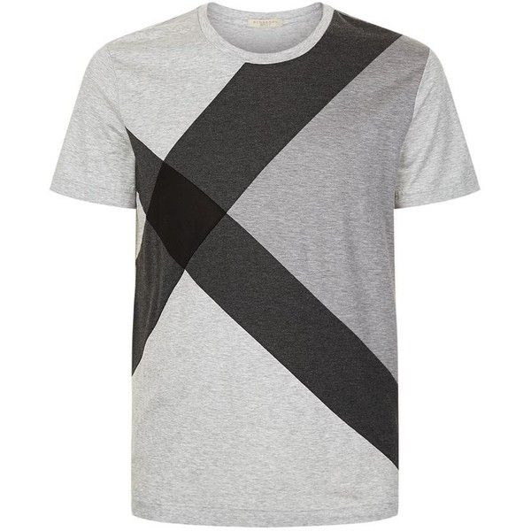 Burberry Large Check T-Shirt (595 BRL) ❤ liked on Polyvore featuring men's fashion, men's clothing, men's shirts, men's t-shirts, mens cotton shirts, mens checkered shirts, mens graphic t shirts, mens checked shirts and mens cotton t shirts