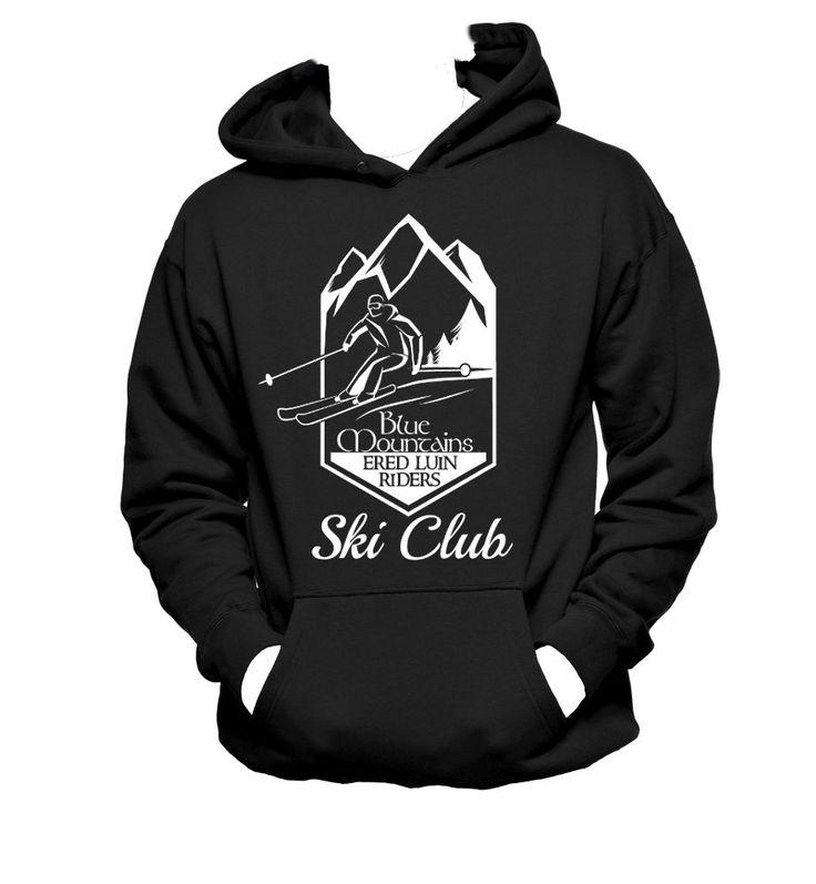 Ered Luin Blue Mountain Riders Ski Club Tolkien Parody Unisex Crewneck,Tolkien Hoodie,Nerd Girl Tees, Geek Chic Funny Shirt Gifts Typography