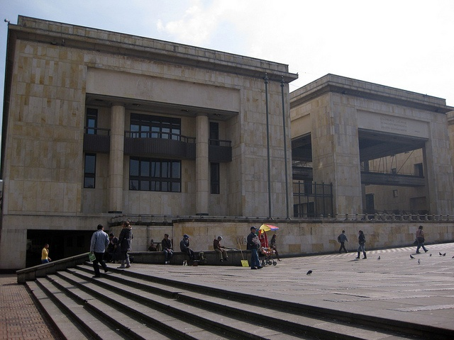 First day in Bogota - my day of arrival.  Plaza Simon Bolivar - Palacio de Justicia
